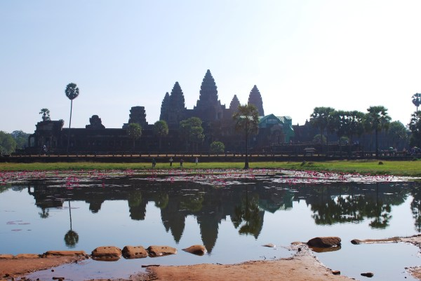 View of Angkor Wat from the west entrance.