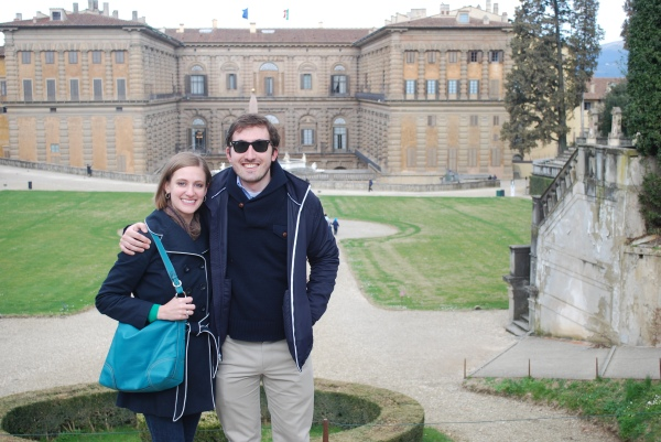 WWW and I at the Pitti Palace in Florence.