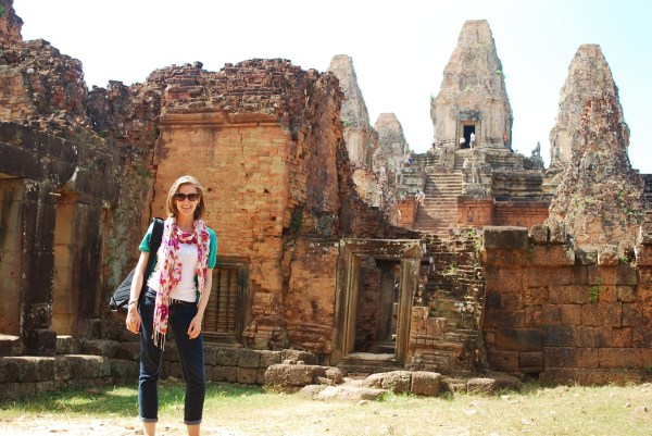 Outside the entrance at Pre Rup.