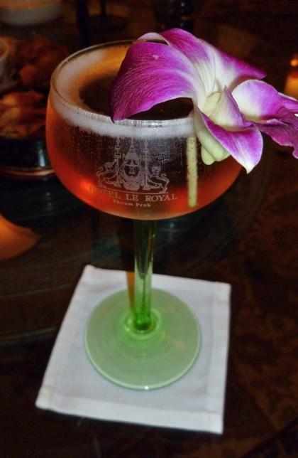 Jackie O's Femme Fatale cocktail at Elephant Bar.