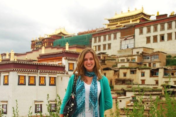 Outside Songzanlin Monastery in Shangri-La.
