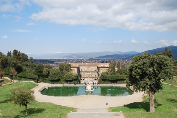 Pitti Palace and gardens in Florence.