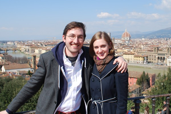 WWW and I at the Piazzale Michelangelo.