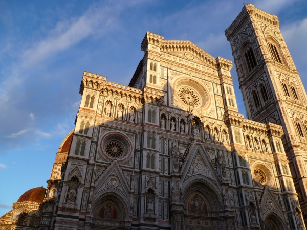 Florence Cathedral (Duomo) at sunset.