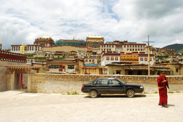 Songzanlin Monastery from the road.