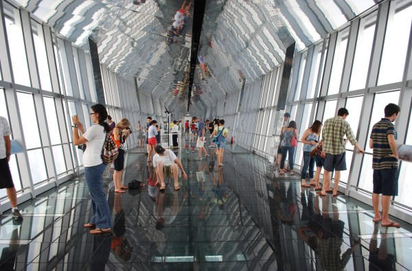 Observation deck of the World Financial Center.